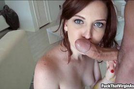 Slim gf Emma OHara first anal experience