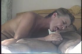 Horny Wife Sucking and Blowing Cock