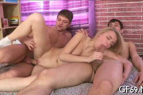Salacious  threesome fucking