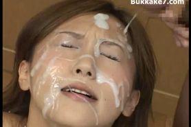 Semen Drenched Bukkake Girl Japan