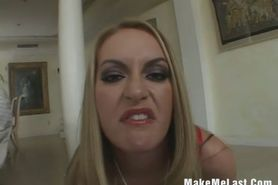Hot Big Tits Blonde Get DP On Three