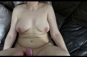 Horny cougar sucking and fucking