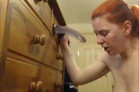 Busty redhead teen practising in BJ