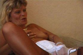 granny stripping and masturbating in panties