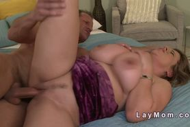 Mature lady with monster boobs banged