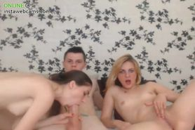 Hot threesome in cam part 2