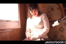 Big titted Japanese amateur slut flashing