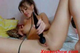 Masturbation in webcam