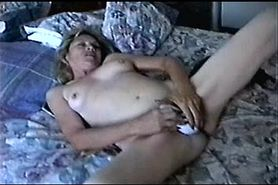 Wife masturbating to Orgasm