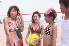 Japanese cuties enjoying wild group