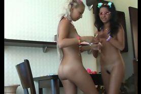 Club Girls getting ready for work