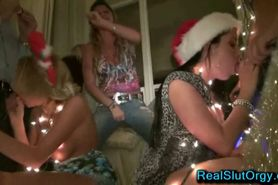 Amateur Christmas Party Orgy