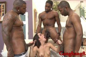 Kinky Marley Blaze interracial gangbang