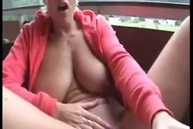 Nice Mature Playing On Her Deck