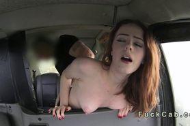 Hirsute British redhead in fake taxi banging