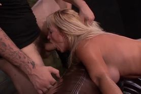 Chained blonde gets cunt screwed