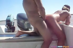 Fucking In A Boat At The Lake