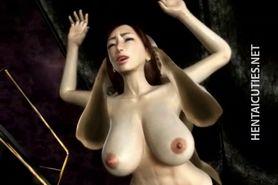 Horny 3D hentai bitch ride prick