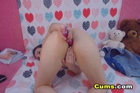 Hot Babe Dildo Fucks her Pussy