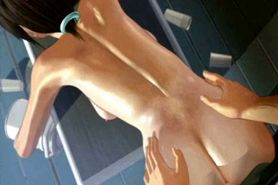 Teen animated gets holes fingered