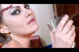 Tina Kay piss and drink it