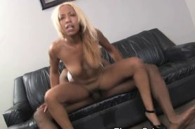 Bleached Blonde Black Slut Fucked Rough