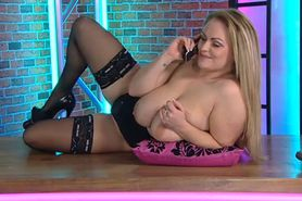 Bimbo Charley Green chat on television 1 table top