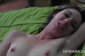 Cock teasing ex-GF gets slit pumped hardcore