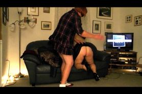 Wife of a sissy spanked for master