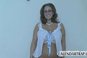 MILF in glasses and lingerie