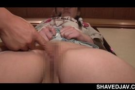 Little Japanese sex slave gets bald cunt and ass toy fu