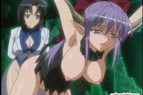 Caught anime gets squeezed her bigtits and ass dri