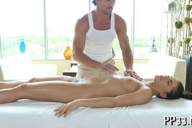 Sweet massage from lusty hunk