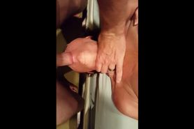 Horny cougar gets her mouth fucked