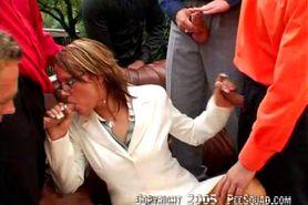 Clarisa in geile gangbang
