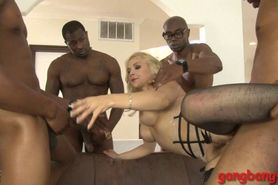 Sarah Vandella dped by big black cocks