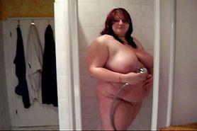 No Sound: BBW Teen in Shower