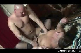 Amsterdam hooker blowing tourist prick in hot sixtynine