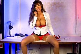 Bimbo Fernanda Ferrari chat on TV secretary