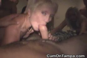 Blonde Dirtbags Gangbanged In Tampa