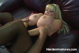 Big tits blonde mature HARD fucked