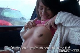 Czech girl Anastasia banged in the car