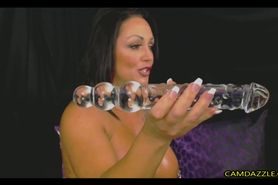 Busty Muscular Milf Fucks Pussy And Ass With Dildo
