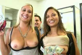 Titty Flashing During Salon Cash Stunt