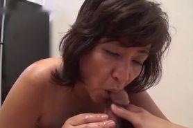 Japanese mature blowjob 4