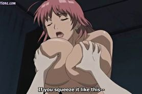 Anime cutie with massive boobs