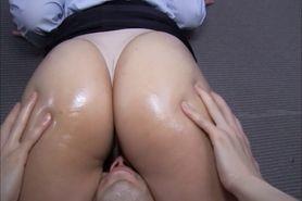 Japanese standing facesitting