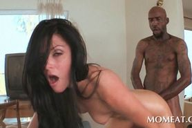Horny MILF having interracial hardcore sex