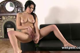 Luna Ora drinks and plays with her piss