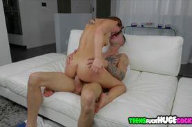 Teen Aidra Fox get face covered with cum